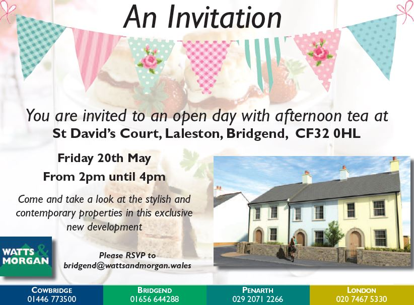 A Date For Your Diary! Open Day at St David's Court, Laleston