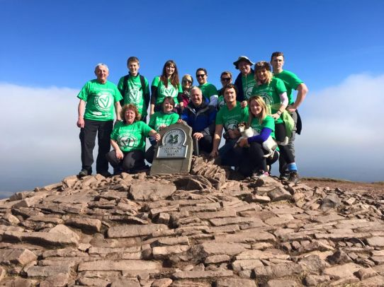 We made it! Charity Walk To The Top Of Penyfan